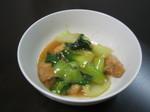 鶏と青梗菜のオイスター炒め